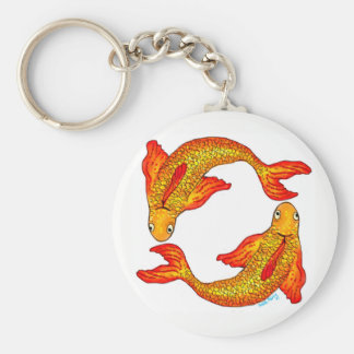 Pisces Fish Zodiac Sign Key Ring