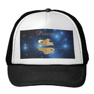 Pisces golden sign cap