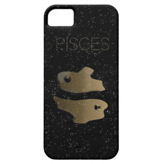 Pisces golden sign case for the iPhone 5