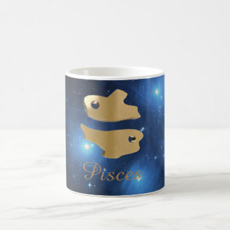 Pisces golden sign coffee mug