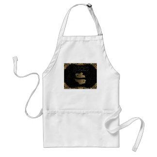 Pisces golden sign standard apron