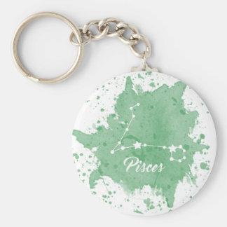 Pisces Green Keychain