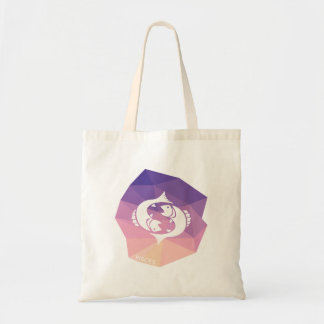 Pisces horoscope pink geometric tote bag