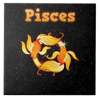 Pisces illustration tile