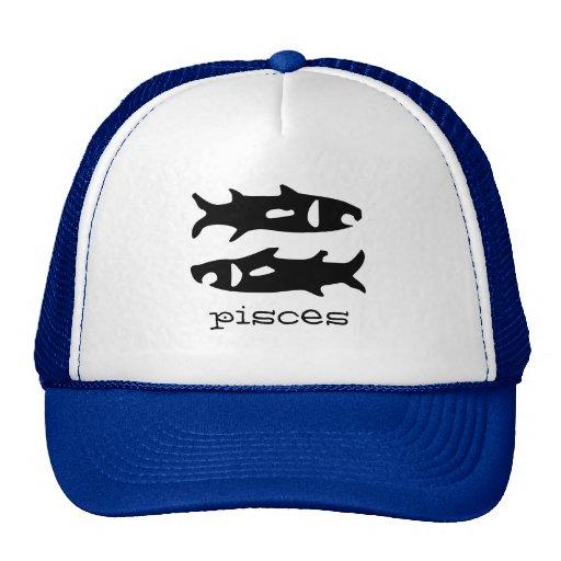 Pisces in black mesh hat