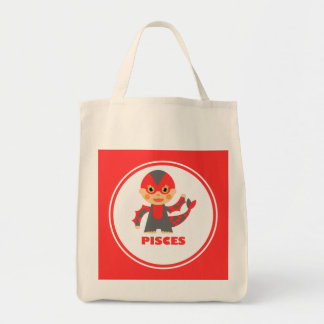 Pisces is my Zodiac Sign Grocery Tote Bag