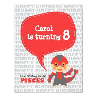 Pisces Kids Party Invitation