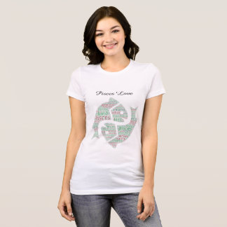 Pisces Love Word Cloud Jersey T-Shirt