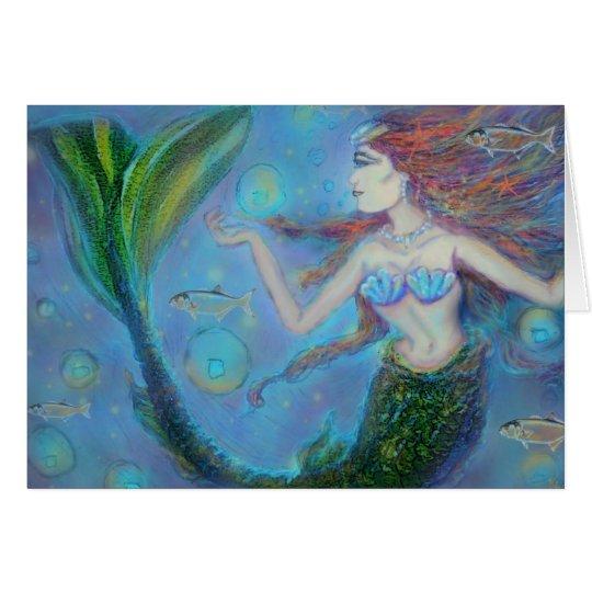 Pisces Mermaid Birthday Greeting Card