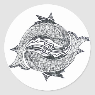 Pisces No. 2 Classic Round Sticker