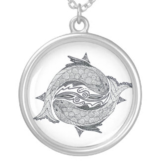 Pisces No. 2 Silver Plated Necklace