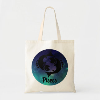 Pisces On Space Background Tote Bag