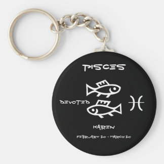 Pisces Personalized Key Ring