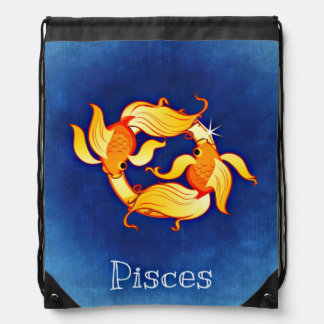 Pisces, Pesci Drawstring Bag