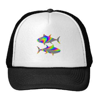 Pisces Rainbow Fish Zodiac T Shirt Cap
