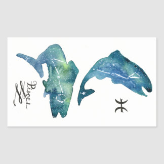 Pisces Rectangular Sticker