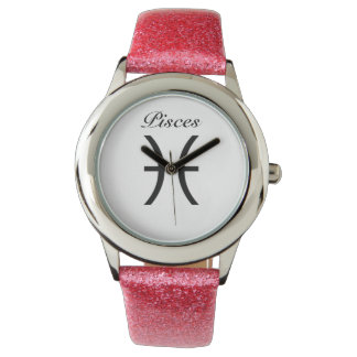 Pisces Sign of the Zodiac. Childrens Watches. Wristwatches