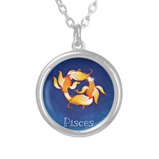 Pisces Silver Plated Necklace