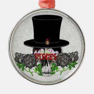 Pisces Skull Christmas Ornament