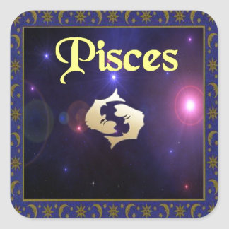 Pisces Square Sticker