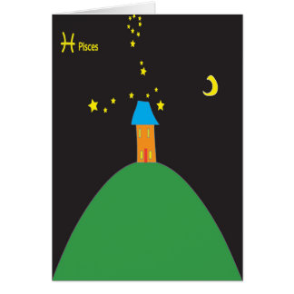 Pisces star sign birthday card