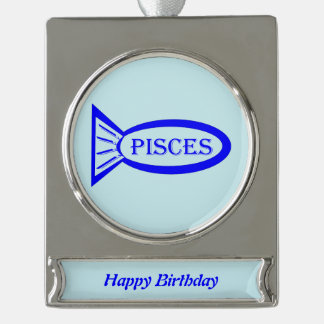 Pisces Star Sign Fish Custom Ornament
