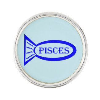 Pisces Star Sign Fish Lapel Pin