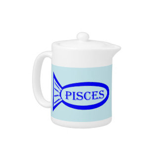 Pisces Star Sign Fish Teapot