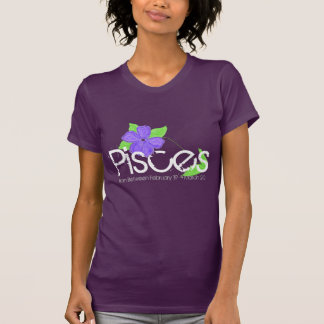 Pisces Tee-shirt With Amethyst Flower T-Shirt