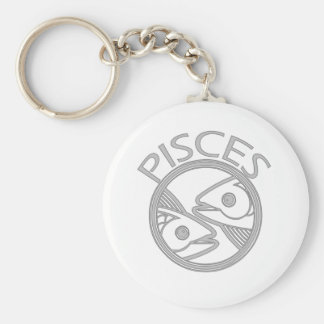Pisces the Fish Basic Round Button Key Ring