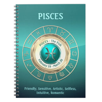PISCES - The Fish Zodiac Sign Personality Traits Notebook