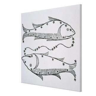Pisces (the Fishes) an illustration from the 'Poet Canvas Print