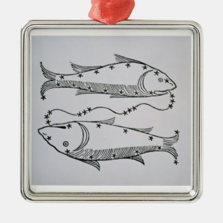 Pisces (the Fishes) an illustration from the 'Poet Christmas Ornament