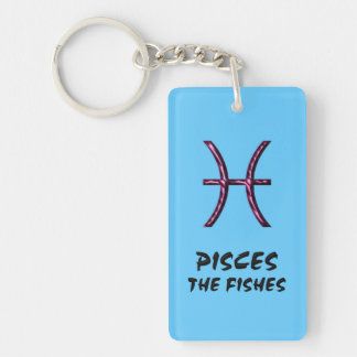 Pisces the fishes keychain