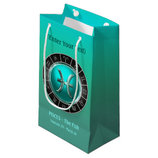 Pisces - The Fish's Horoscope Symbol Small Gift Bag
