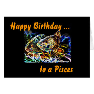 Pisces - The Twin Fish of Zodiac by Manda Card