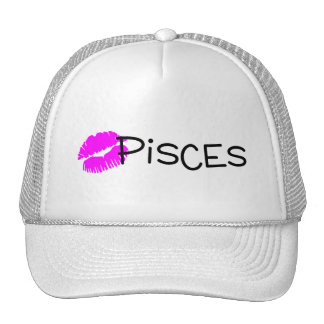 Pisces with Pink Kiss Trucker Hat