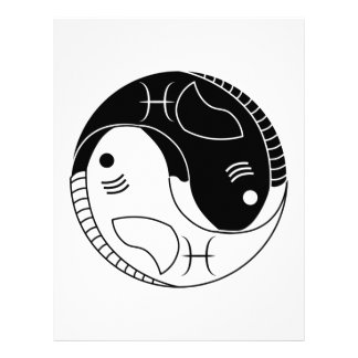 pisces yin yang fish astrology zodiac symbol full color flyer