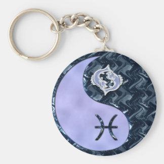 Pisces Yin Yang Key Ring
