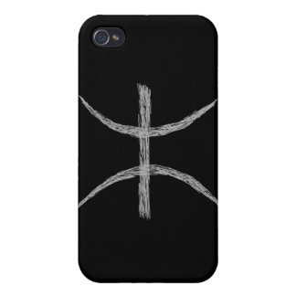 Pisces Zodiac Astrology Sign Black iPhone 4 Case