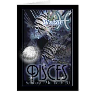 Pisces Zodiac birthday card