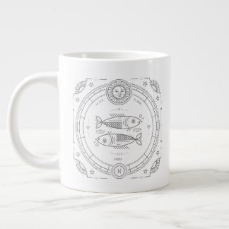 Pisces Zodiac Custom BirthdayMug Large Coffee Mug
