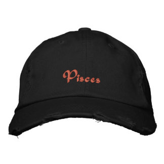 Pisces Zodiac Embroidered Cap / Hat