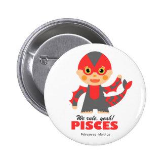 Pisces Zodiac for kids 6 Cm Round Badge
