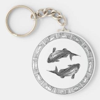 Pisces Zodiac Keychain