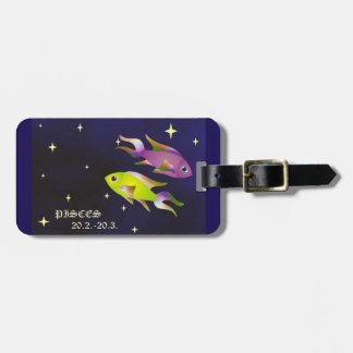 Pisces zodiac Luggage Tag