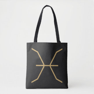 Pisces Zodiac Sign Basic Tote Bag