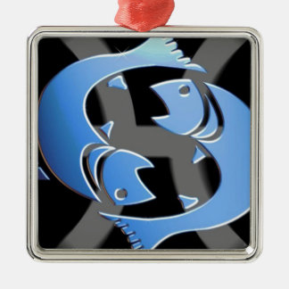 PISCES ZODIAC SIGN CHRISTMAS ORNAMENT