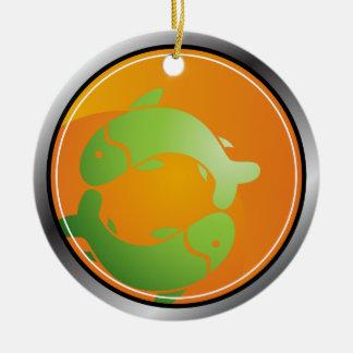 Pisces Zodiac Sign Christmas Ornament