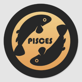 Pisces Zodiac Sign Classic Round Sticker